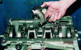 Замена коренных вкладышей без демонтажа двигателя, проверка прокладки гбц