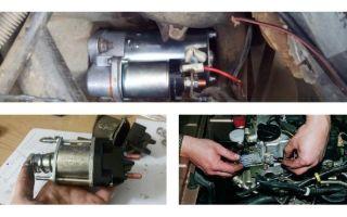 Причины движения стартера при условии отказа двигателя заводиться