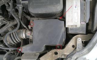 Снятие и замена воздушного фильтра ford focus 2
