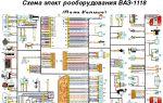 Электросхема автомобиля lada kalina: поиск поломок и замена электрооборудования