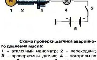 Характеристика датчика давления масла, инструкция по его проверке и замене