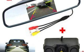 Камеры заднего вида с парковочными линиями, выбор парктроника (парковочного радара) с камерой