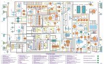 Цветная схема электрооборудования камаз-5320 и 4310 с описанием, поиск проблем с проводкой