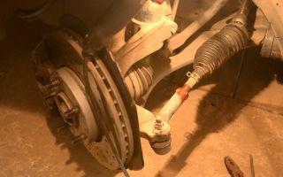 Снятие и замена наконечников рулевой тяги на mazda 3