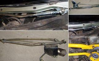 Процедура ремонта и замены трапеции стеклоочистителя и его деталей (втулки, тяги и других)