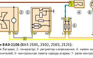 Подробная схема зарядки на ваз 2106, проблемы с зарядкой и способы их устранения