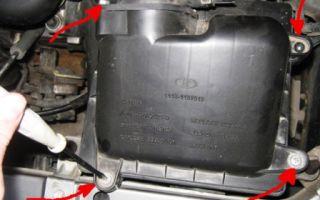 Снятие и замена воздушного фильтра лада калина