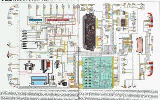 Электросхема ваз 2110 и ее описание: система электрооборудования авто, подробная электрическая схема проводки для моделей с инжектором и карбюратором