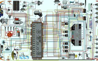 Электросхема автомобиля москвич 2141: поиск поломок и замена электрооборудования
