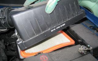 Замена воздушного фильтра skoda fabia i 1.2