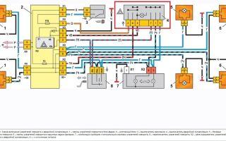 Схема аварийной сигнализации ваз 2109: установка центрального замка своими руками (видео)