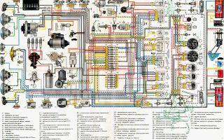 Схемы проводки ваз 2106: описание цветных электросхем подключения электропроводки и электрооборудования