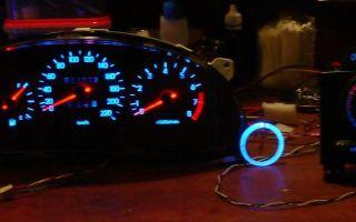 Подсветка приборной панели светодиодами: замена и регулировка ламп на щитке
