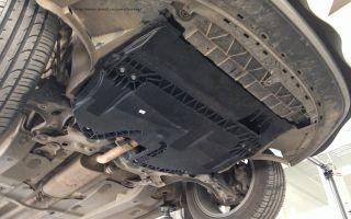 Установка защиты картера на volkswagen polo sedan своими руками