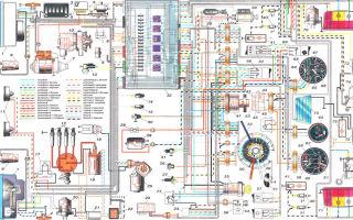 Электросхема ваз 2103, 2104, 21041, 21043 инжектор и карбюратор с описанием