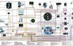Цветная электросхема газ 2410, 24 и 21: описание проводки и схема электрооборудования