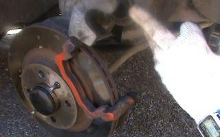 Замена задних тормозных колодок на лада гранта