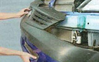Снятие и замена переднего бампера renault logan