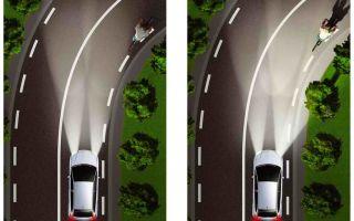 Что такое адаптивное освещение автомобиля и система света фар afs