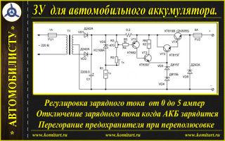 Обзор автоматического зарядного устройства для автомобильного аккумулятора