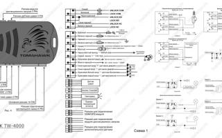 Схема подключения и инструкция по эксплуатации автосигнализации tomahawk