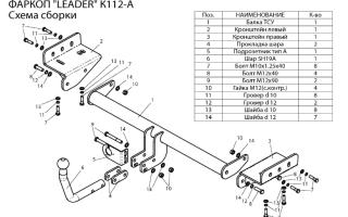 Как установить фаркоп на автомобили kia своими руками: инструкция, что понадобится для установки, где купить и видео