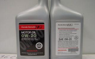Обзор особенностей моторного масла марки honda 0w-20: фото и видео
