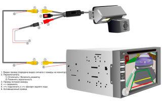 Инструкция по подключению камеры заднего вида к автомобильной магнитоле, схема