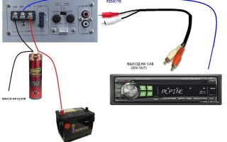 Подробная инструкция, как подключить усилитель к автомобильной магнитоле